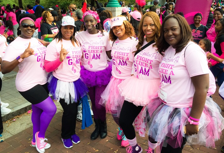 Kappa Epsilon Psi Military Sorority, Inc.   Walking For A Cure For Breast Cancer T-Shirt Photo