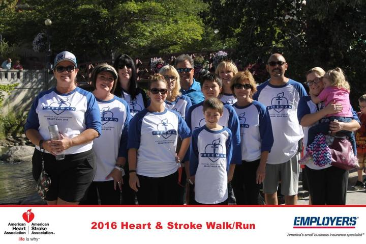 Freeman Reno Heart Walk Team T-Shirt Photo