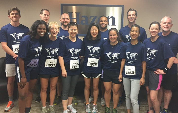 Hazen And Sawyer's 5 K Race Team In Atlanta   T-Shirt Photo