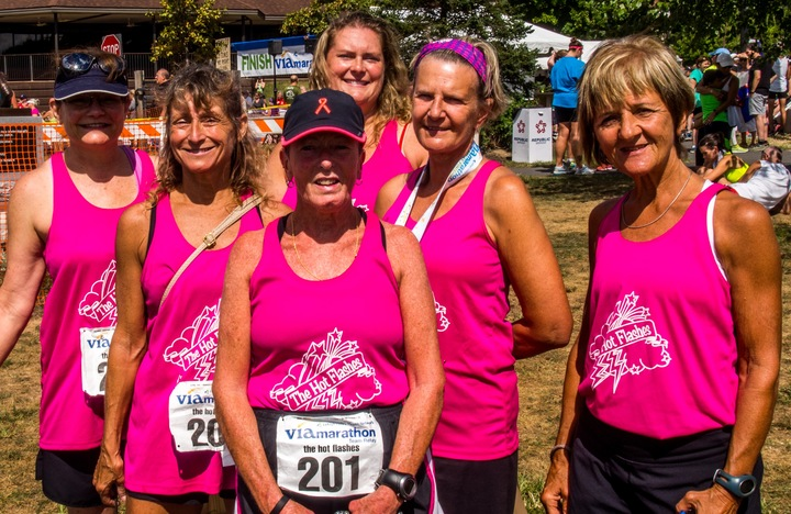 """The Hot Flashes""  Take First Place  T-Shirt Photo"