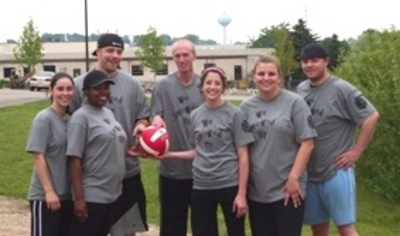 We Showed Up Volleyball Team T-Shirt Photo
