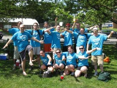 Screaming Sea Gulls Kickball Team! T-Shirt Photo