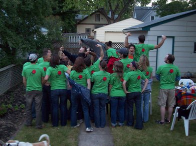 Kickball Team Back T-Shirt Photo