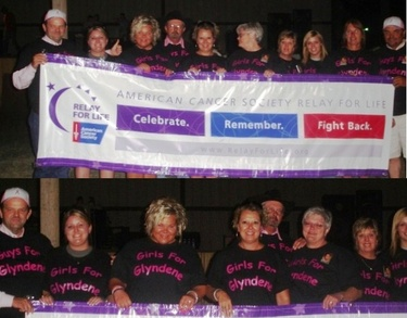 Girls For Glyndene At Relay For Life T-Shirt Photo