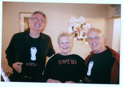 Dame Judi With Stephen And Ron T-Shirt Photo
