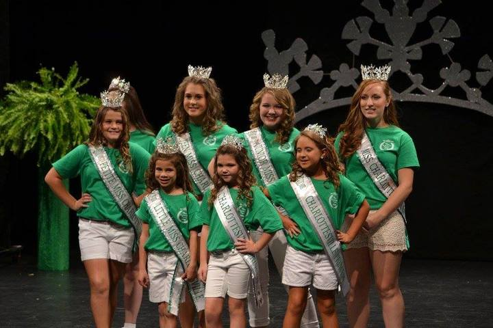 Miss Charlottesville 2016 Court In Their Custom Ink Tees T-Shirt Photo