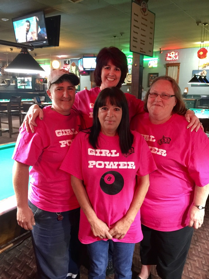 Girl Power. Ladies Pool Team.  T-Shirt Photo