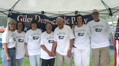 Giles County Virginia Democrats T-Shirt Photo