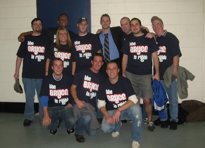 """The Bryce """"Is Right"""" Lampman With His Fans Of Section 302 T-Shirt Photo"""