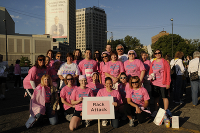Team Rack Attack Fights Back Against Breast Cancer! T-Shirt Photo
