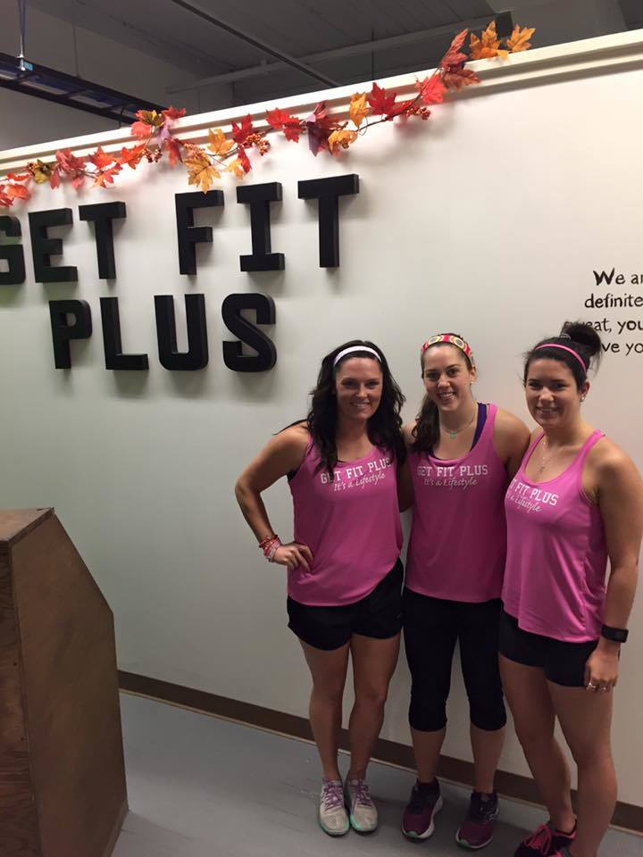 A Charity Workout To Help Raise Money For Breast Cancer Research. T-Shirt Photo