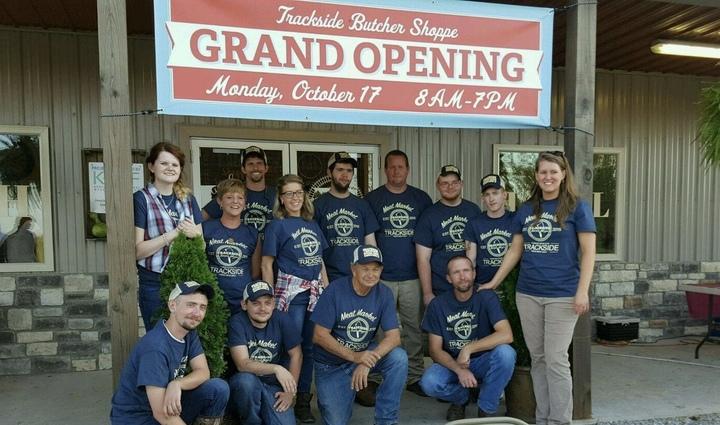 Trackside Butcher Shoppe Grand Opening! T-Shirt Photo
