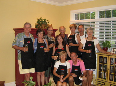 Gourmet Dinner Group Strikes A Pose T-Shirt Photo