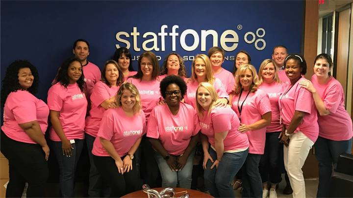 Staff One Pink Out For Breast Cancer T-Shirt Photo