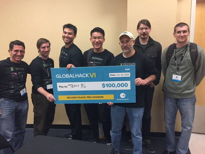 Celebrating 1904labs Win At Global Hack Vi   T-Shirt Photo