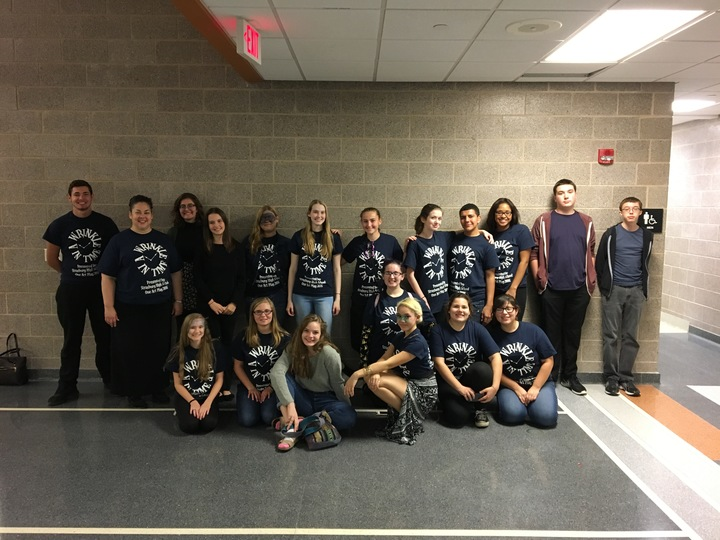 One Act Team Rocking Their T's!  T-Shirt Photo