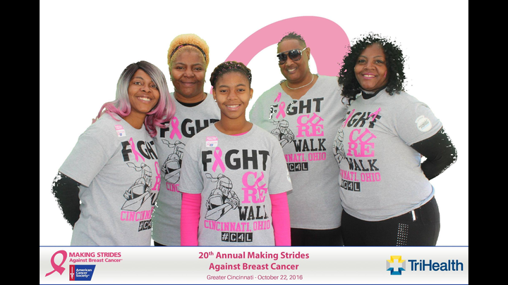 2016 Making Strides Against Breast Cancer Cincinnati T-Shirt Photo