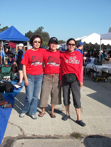 "Mom, Me And Cwee In Our Fab ""Go Cwee"" Tshirts T-Shirt Photo"