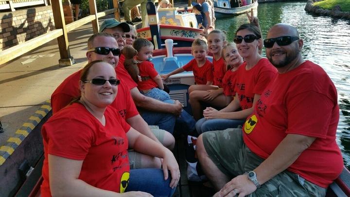 Boat Ride At Disney  T-Shirt Photo