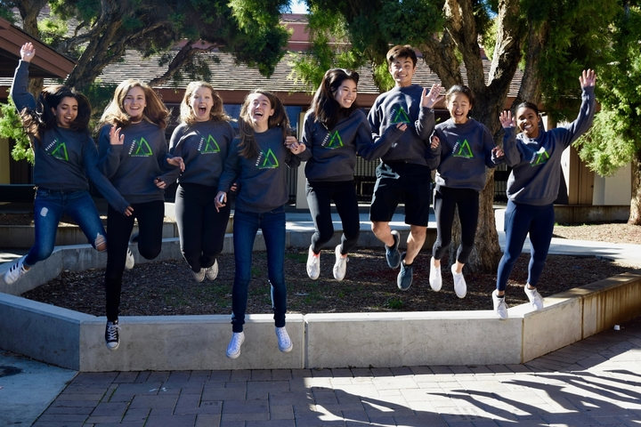 Editors Of Yearbook Joyously Jump For New Sweatshirts T-Shirt Photo
