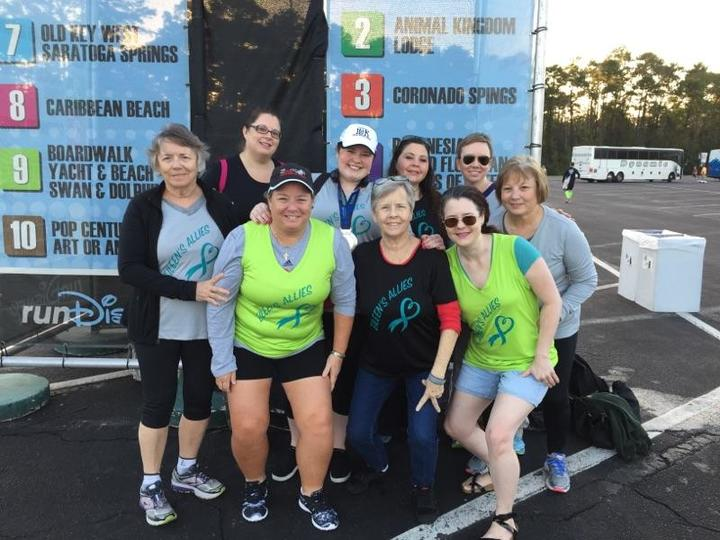 Eileen's Allies At Disney 10k T-Shirt Photo