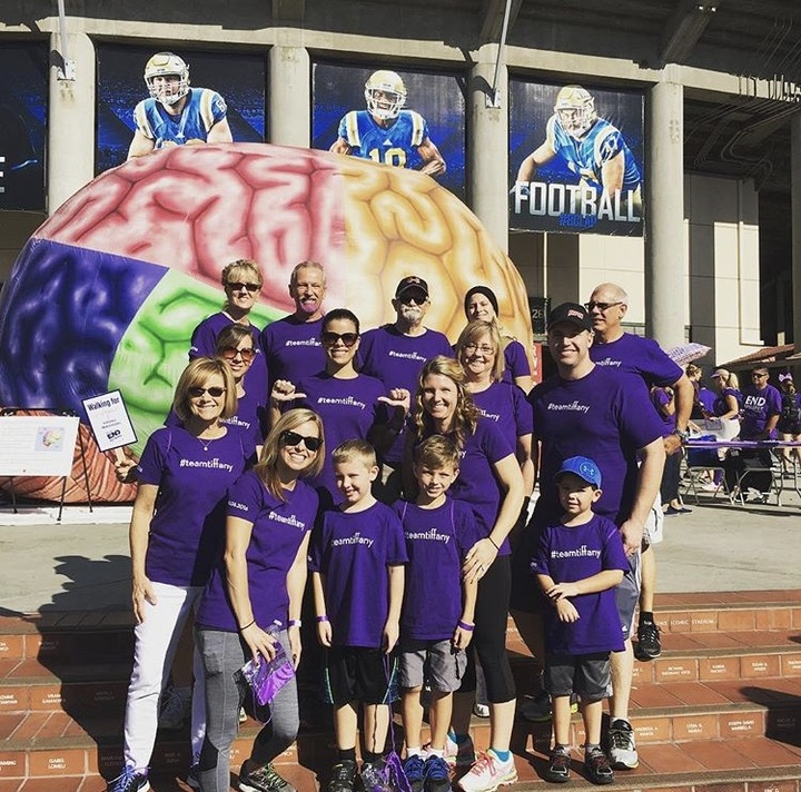 """Team Tiffany"" @ Walk 2 End Epilepsy 2016 T-Shirt Photo"