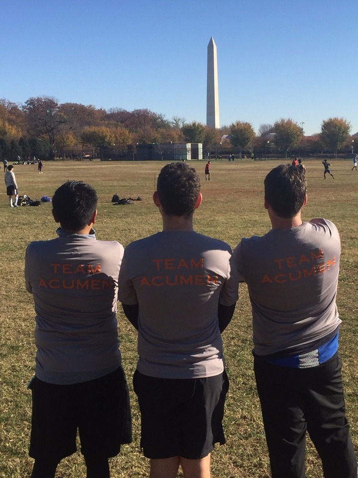 Team Acumen At The Veterans Day Run (Dc) T-Shirt Photo