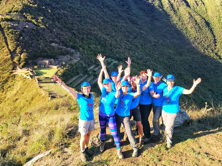 Team Peru At Choquequirao   Macchu Pichu's Sister City T-Shirt Photo