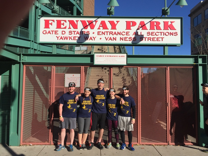 Nothing Sub Par About The Weather Or The Awesome Race At Fenway Park! T-Shirt Photo