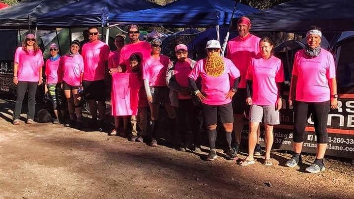 #Teamjackie Rocking Ragnar Trail Los Coyotes T-Shirt Photo
