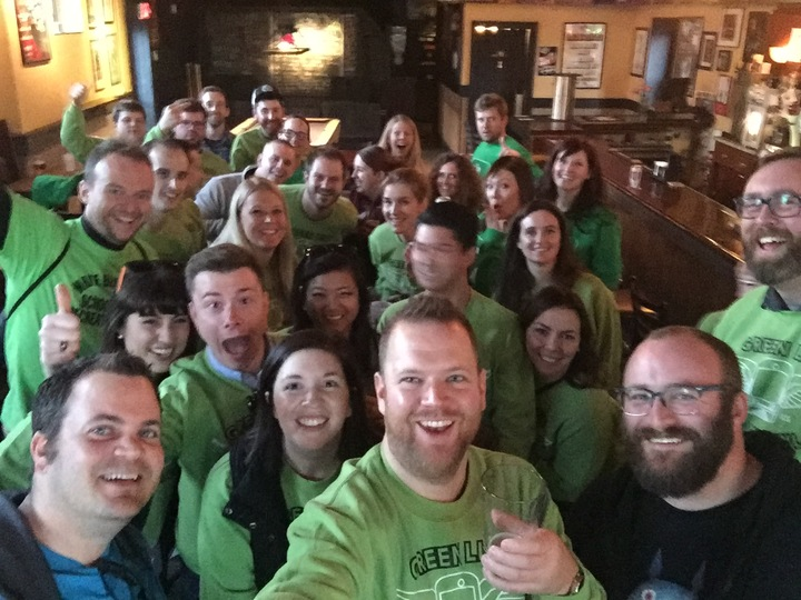 Green Line Bar Crawl  T-Shirt Photo