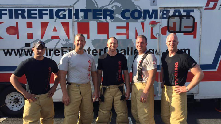 Whitehall Fire Firefighter Combat Challenge Team T-Shirt Photo