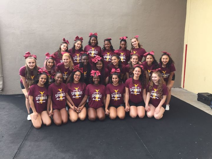Miami Springs Shs Varsity Cheer Team  T-Shirt Photo