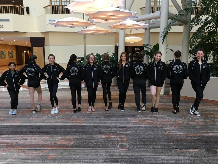 Young Dancers Proudly Showing Off Their New Warm Up Jackets! T-Shirt Photo