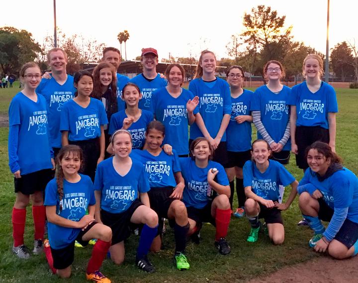 Los Gatos United Amoebas Rec Soccer Team T-Shirt Photo