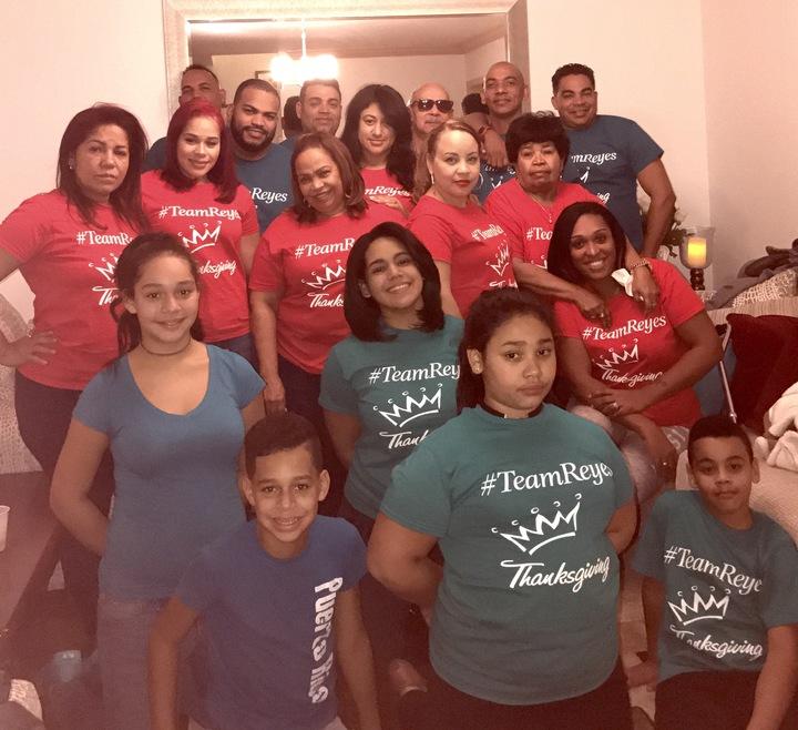 Team Reyes Thanksgiving  T-Shirt Photo