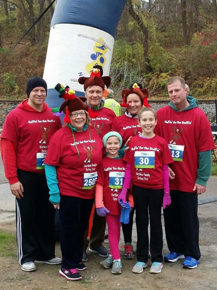 Bartkus Family At The Turkey Trot T-Shirt Photo