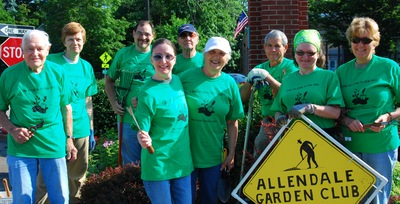 Allendale Garden Club At Work T-Shirt Photo
