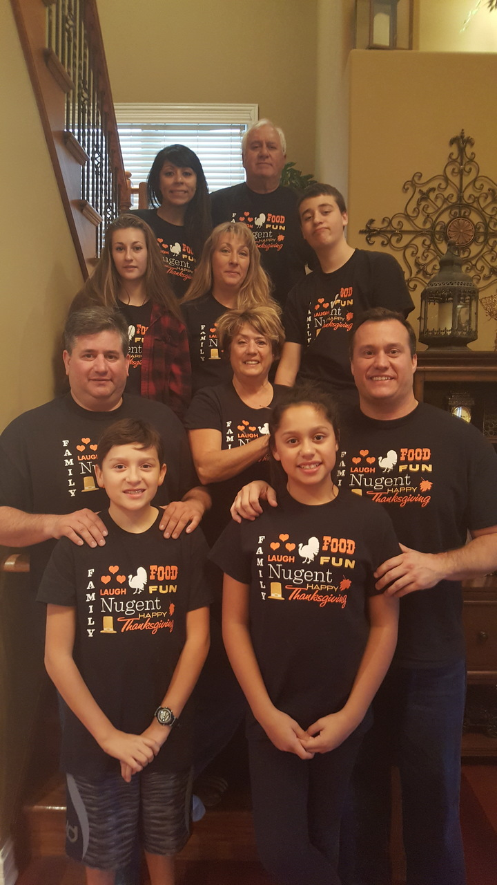 Nugent Family Thanksgiving T-Shirt Photo