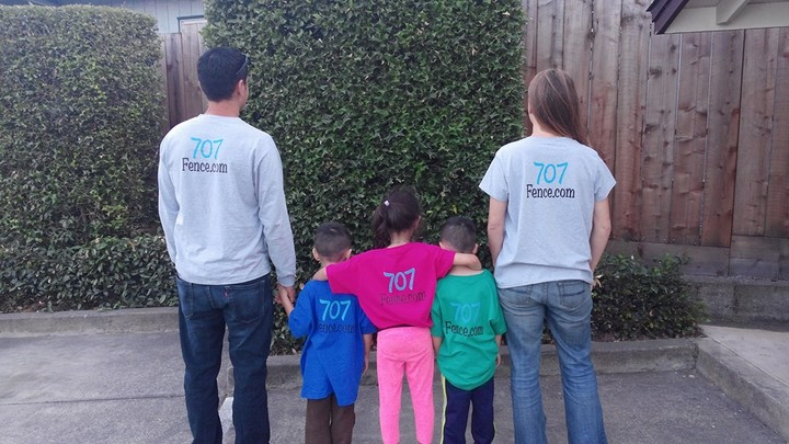 707 Fence Company Family T-Shirt Photo