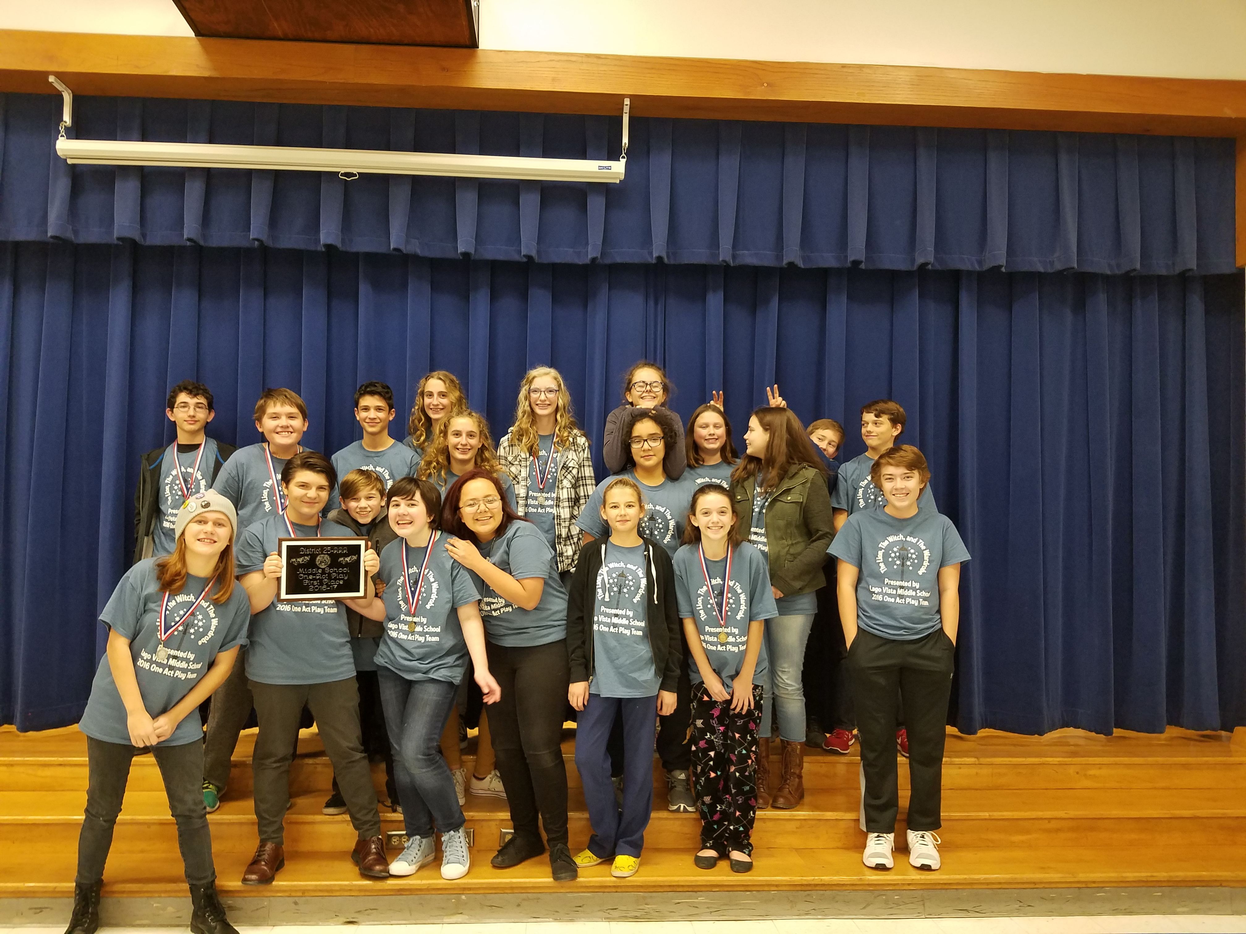 custom t-shirts for lvms one act play district champs - shirt design