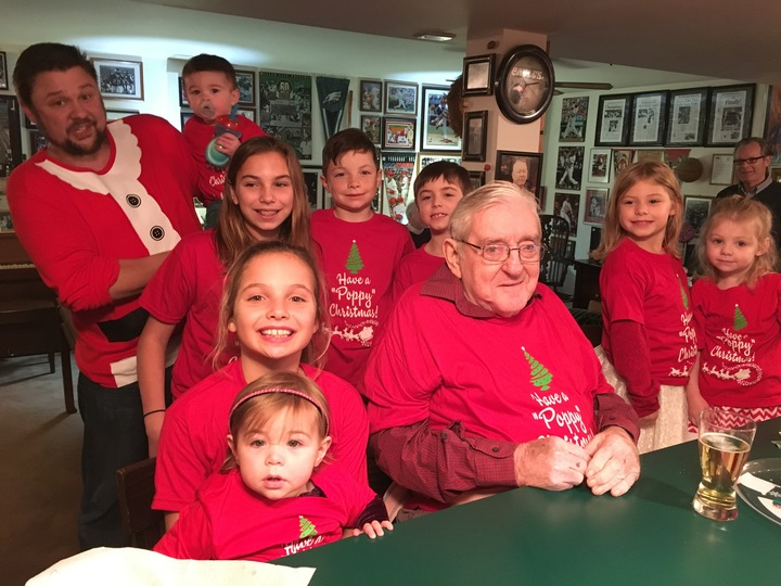 Poppy And Grandkids T-Shirt Photo