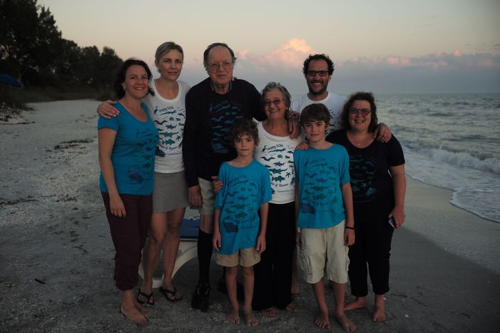 Family Photo On Sanibel Island  T-Shirt Photo