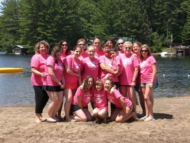 Pretty In Pink At White Lake T-Shirt Photo