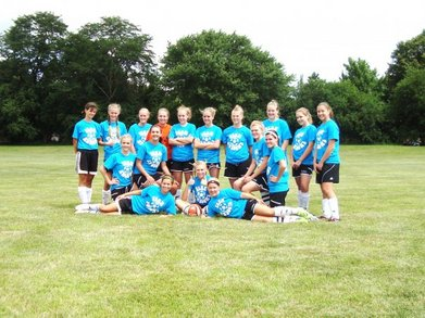 Team Awesome Soccer Team T-Shirt Photo