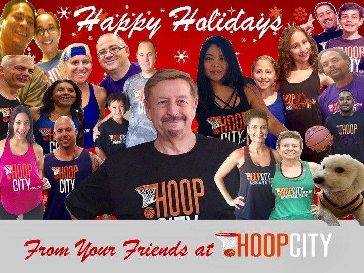 An International Happy Holidays From Hoop City News T-Shirt Photo