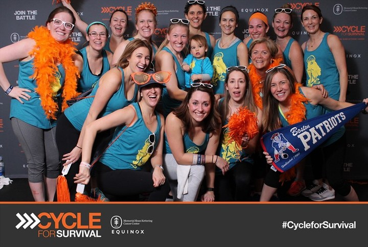 Cycle For Survival   Beantown Biker Chicks T-Shirt Photo