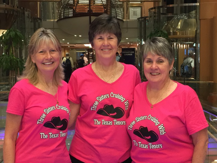 Sisters Cruising With The Texas Tenors Fan Club T-Shirt Photo