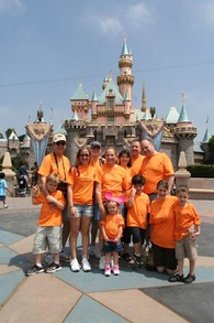 The Whole Family At Disneyland T-Shirt Photo