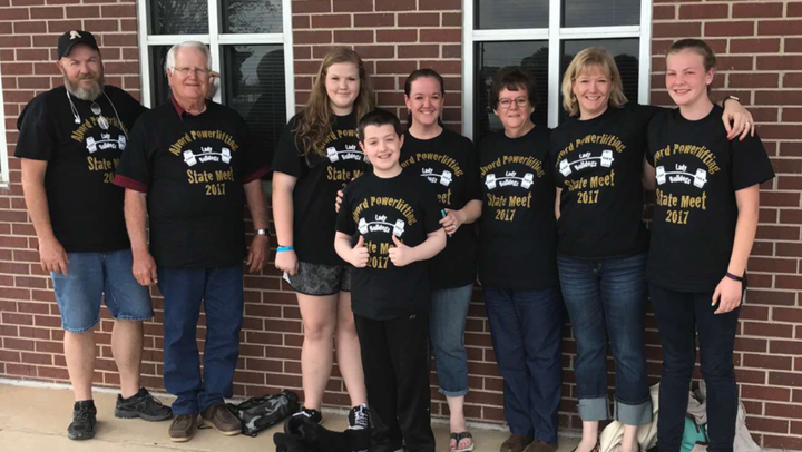 Texas Powerlifting Family  T-Shirt Photo